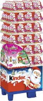 FDE Christmas Kinder Schokolade Weihnachtsmann mit Überraschung Mädchen 75g, Display, 144pcs