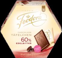 Feodora Chocolade Täfelchen 60% Edelbitter 180g