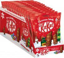 Nestle Christmas Kitkat Mini-Weihnachtsmänner Beutel 66g