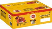 Pedigree Portionsbeutel Multipack Giant Pack Adult Gemischte Selektion in Gelee 80 x 100g