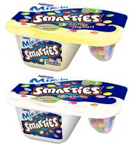 DE Cooling Nestle Mix in & Smarties MK Joghurt pur / Vanille 120g, Mix-Carto, 8pcs