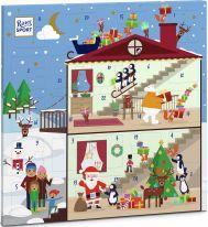 Ritter Sport Christmas Quadrat-Adventskalender 347g, Display, 18pcs