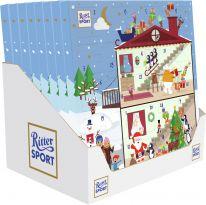 Ritter Sport Christmas Quadrat-Adventskalender 347g, 8pcs