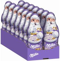 MDLZ DE Christmas Milka Weihnachtsmann Kuhflecken 100g