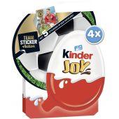 FDE Limited Kinder JOY 4er 40g EM 2021 Teamsticker-Promotion