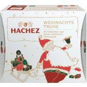 Hachez Christmas Weihnachts-Truhe Feine Vollmilch-Täfelchen 150g