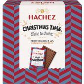 Hachez Christmas A Matter of Taste Täfelchenbox 44% Feine Vollmilch Caramel 165g