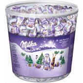 MDLZ DE Christmas Milka Mini Weihnachtsmänner 1540g Klarsichtdose