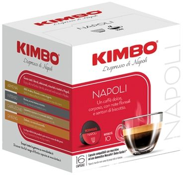 Kimbo Napoli 16 Capsule Dolce Gusto Compatibili 112g