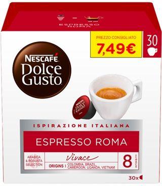 Nestle Nescafé Dolce Gusto Espresso Roma 30 Capsule 240g