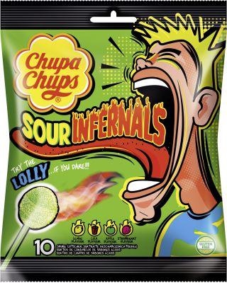 Chupa Chups Sour Infernals 10er Beutel 95g
