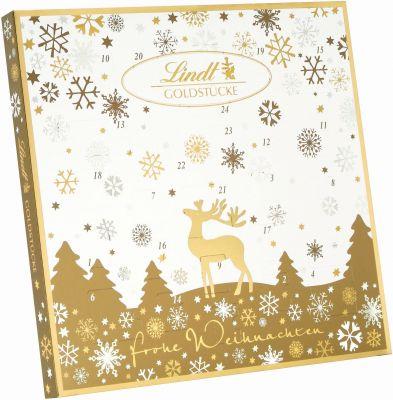Lindt Christmas - Adventskalender, Goldstücke, 156g