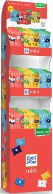 Ritter Sport mini Papierbeutel 150g 3 sort, Display, 45pcs