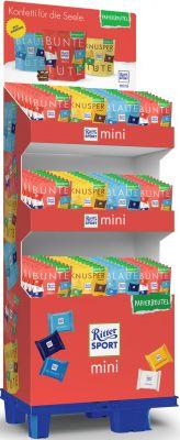 Ritter Sport mini Papierbeutel 150g 3 sort, Display, 96pcs