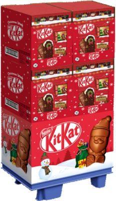 Nestle Christmas Kitkat Adventskalender 208g, Display, 40pcs