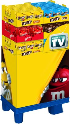 MDE M&M´s Peanut 150g/Choco 150g/Crispy 128g/Maltesers 102g, Display, 172pcs