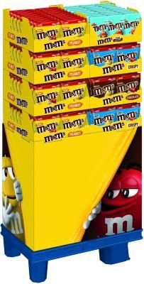 MDE M&M´s Peanut/Choco/Crispy/Salted Caramel, Display, 167pcs