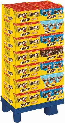 MDE M&M´s Peanut/Choco/Crispy/Salted Caramel, Display, 295pcs