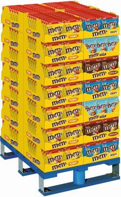 MDE M&M´s Peanut/Choco/Crispy/Salted Caramel, Display, 588pcs