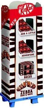 Nestle Limited KitKat Zebra, Display, 210pcs