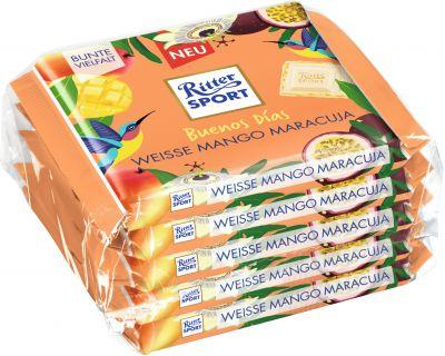 Ritter Sport Limited Weisse Mango Maracuja 5er-Pack, 500g