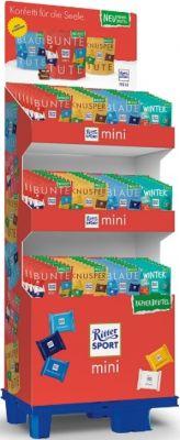 Ritter Sport Limited Mini 9er Tüte 4 sort Winterpromotion, Display, 96pcs