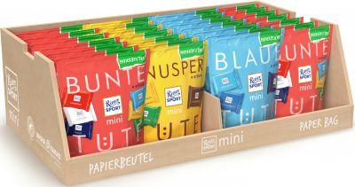 Ritter Sport Limited mini Papierbeutel 150g 3 sort, Mix-carton, 28pcs
